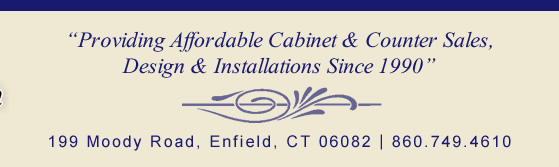 providing affordable cabinet & counter sales, design & installations since 1990